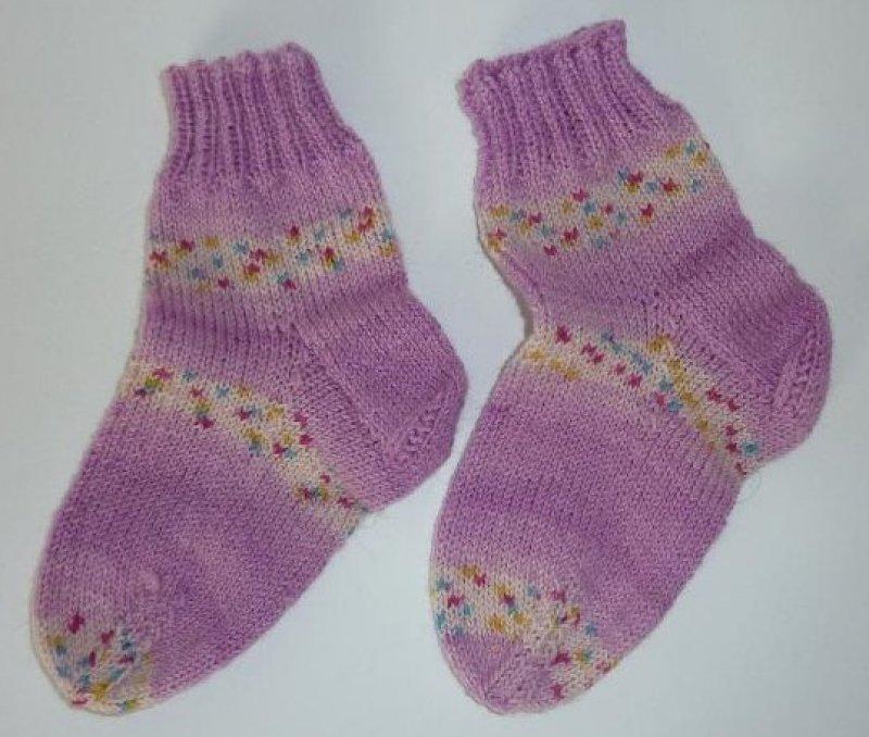 Socken gestrickt rosa