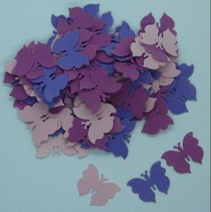 Schmetterlinge lila-mix