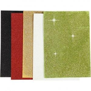 Glitter Moosgummi A5 Sortierung 1