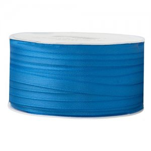 Doppelsatinband 6mm blau