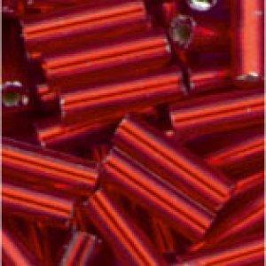 Glasstifte hellrot mit Silbereinzug