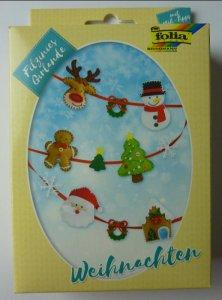 Mini Filz-Nähset Girlande Weihnachten